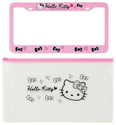 Hello Kitty License Plate Frame Cover : Pink