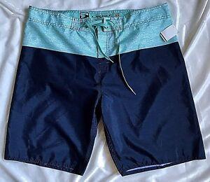 NEW-Men-s-DRIPT-48-Size-40-Board-Shorts-Dark-Blue-Green-White