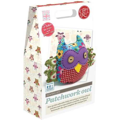 Easy Sewing Projects Patchwork Owl The Crafty Kit Co Sewing Kit