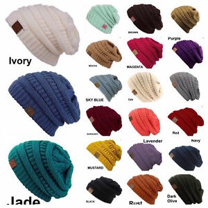 eca57bf14ad CC women Slouch Bubble Knit Beanie Cap Baggy Oversize Winter Snow ...