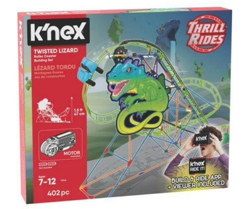 K/'nex Twisted Lizard Roller Coaster Building Set With VR Set