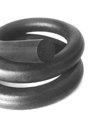 8mm Expanded Neoprene Closed Cell Sponge Cord Black Foam Rubber Gasket Trim Seal