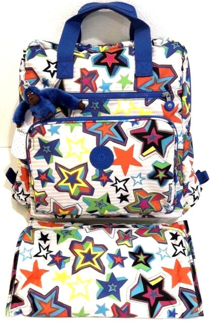 9d2aac9c98e Kipling Diaper Backpack Audrie Mystic Sunset Baby Bag Overnight Changing Pad