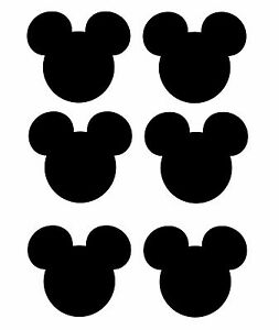 mickey mouse head shadow 6 t shirt iron on transfer ebay