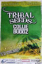 TRIBAL SEEDS /COLLIE BUDDZ 2014 SAN DIEGO CONCERT TOUR POSTER -Reggae Rock Music