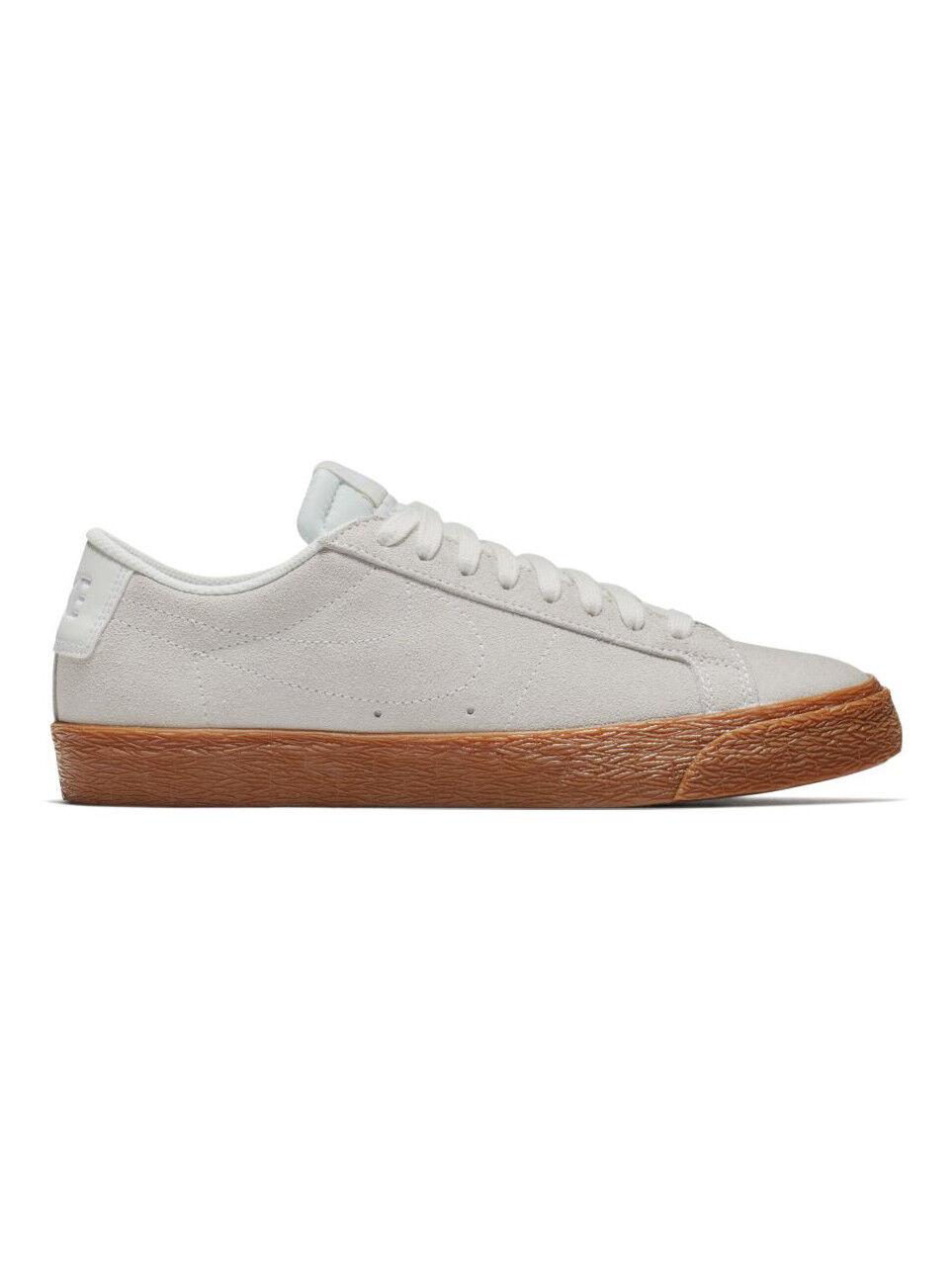 Nike SB - Blazer Low | Mens Skate Shoes - 864347-100 | White / Gum