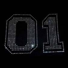 4 inch Arial Font Rhinestone letter iron on transfer Many colors available!
