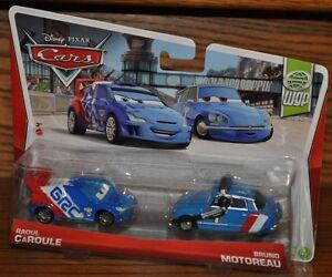 Zabawki Disney Pixar Cars 2013 World Grand Prix 2-pack RAOUL CAROLE & BRUNO MOTOREAU