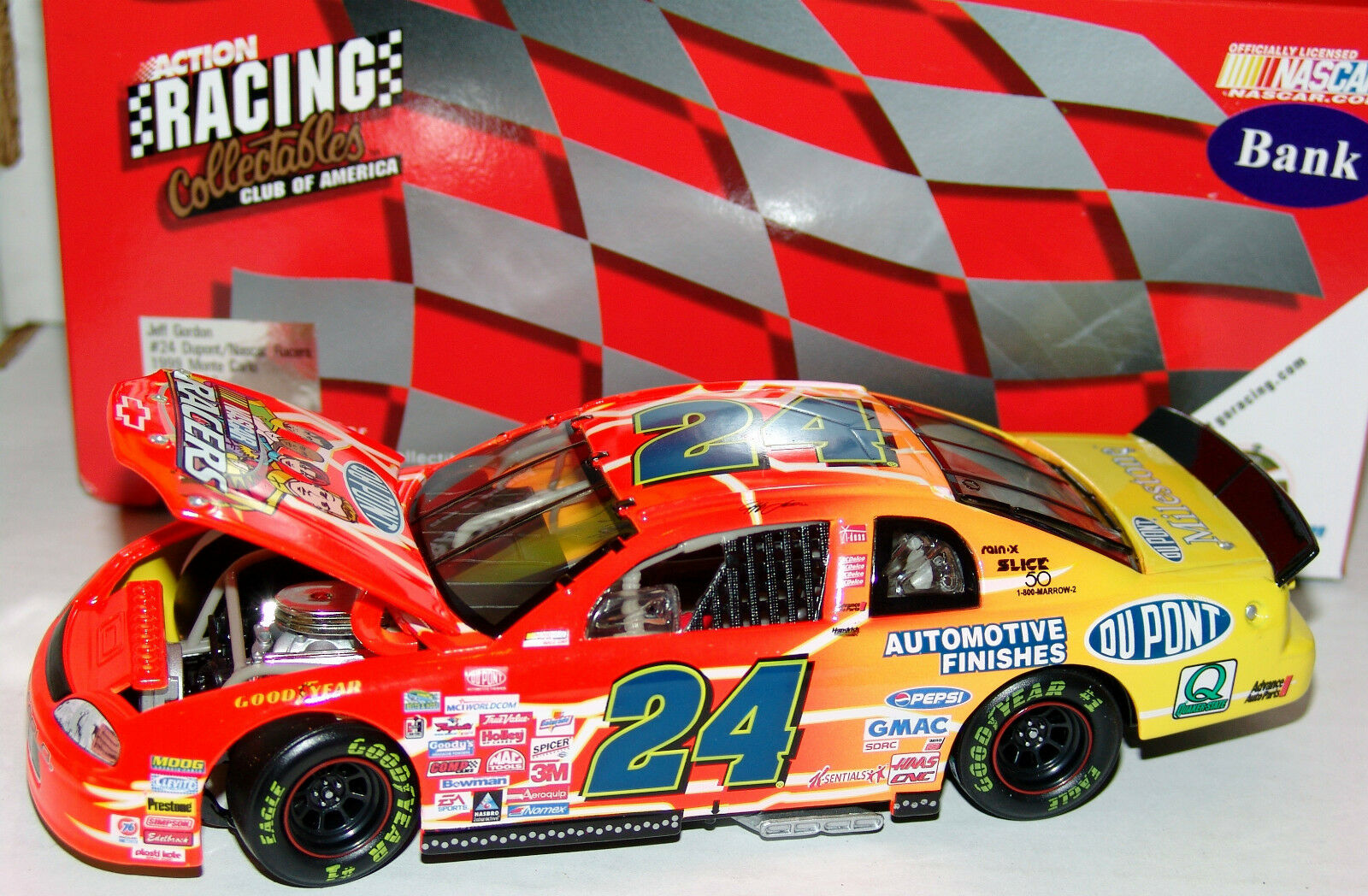 99 Jeff Gordon NASCAR Racers Chevrolet 1 24 Action Action Action RCCA Limited Edition Bank aaff63