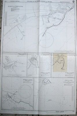 Gandia Spagna Cartina.Mappa Map Carta Nautica Porto Di Tarragona Gandia Sagunto Vinaroz Denia Espana Ebay