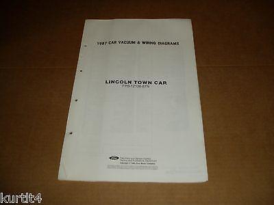1987 lincoln town car wiring diagram sheet service shop manual ebay. Black Bedroom Furniture Sets. Home Design Ideas