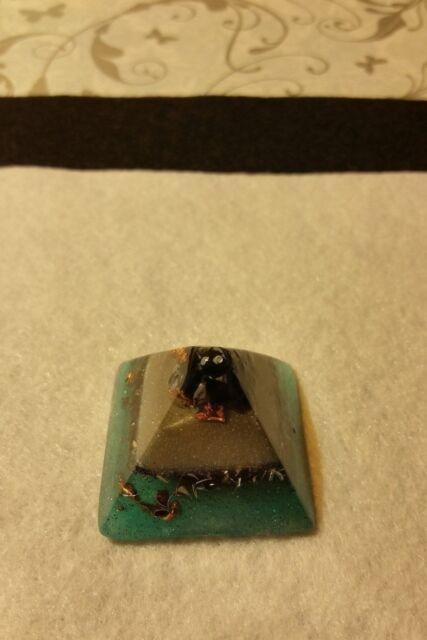 Orgone Oasis, Snowflake, Quartz Crystal, Sm. Handmade Pyramid - Glows #12261515