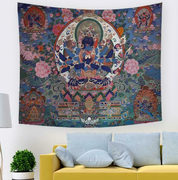3D Avalokitesvara N084 Tapestry Hanging Cloth Hang Wallpaper Mural Photo Amy