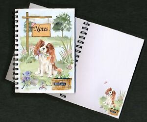 Cavalier-King-Charles-Spaniel-Dog-Notebook-Notepad-small-image-on-each-page