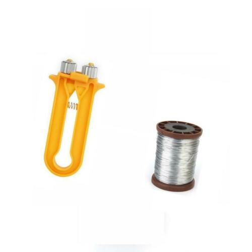 Cable Tensioner Crimper Beekeeping Bee Wire Iron Wire Roll with Frame Wire