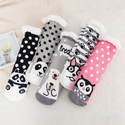 Women Ladies Soft Fluffy Fur Bed Sock Winter Warm Slipper Fleece Lined Socks