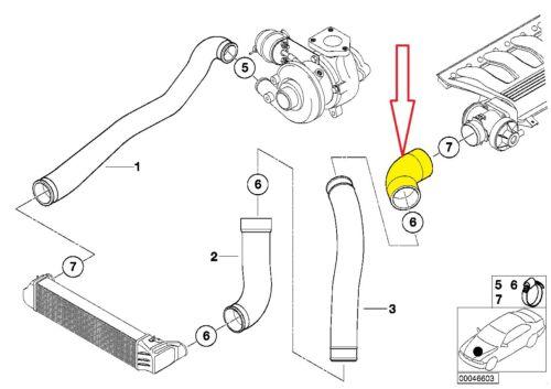INTERCOOLER PIPE Turbo Boost Tuyau 11617799393 11612247322