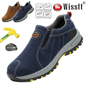 ba8352b1a7f Details about Men Safety Work Shoes Steel Toe Boots Breathable Casual  Hiking Climbing Sneakers