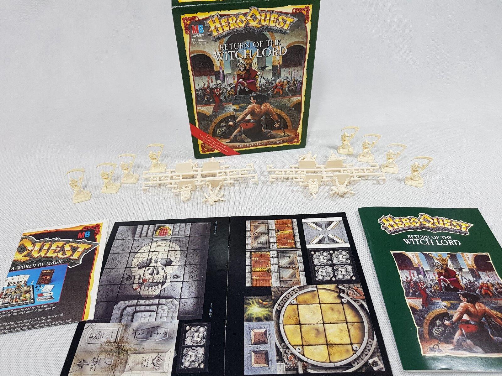 Heroquest RITORNO DELLA STREGA  Lord su materozze in scatola Hero Quest ENG [1989]  100% autentico
