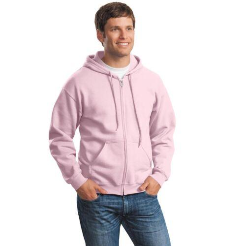 Men/'s Zip Full Hooded Sweatshirt Classic Fit Adult FLEECE First Quality S-5XL