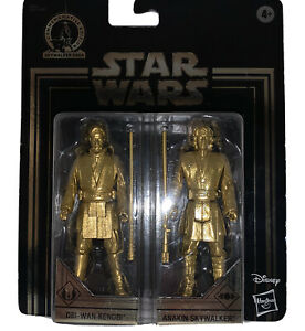 NEW-Star-Wars-Commemorative-Edition-Gold-Obi-Wan-Kenobi-amp-Anakin-Skywalker