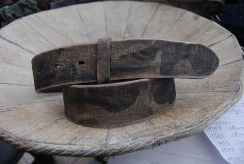"Osannati Cintura in Pelle /""grigio mimetico/"""