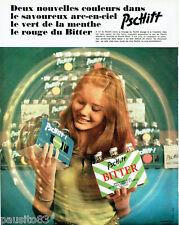 PUBLICITE ADVERTISING 125  1970  PSCHITT apéritif sans alcool par JC DEWOLF