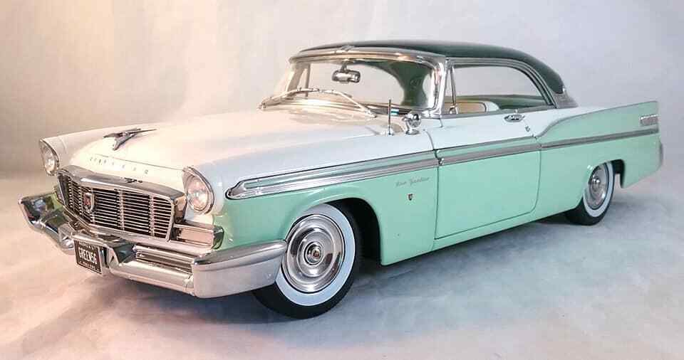 1956 Chrysler New Yorker St. Regis in Surf Green Poly by Acme in 1 18 A1809003