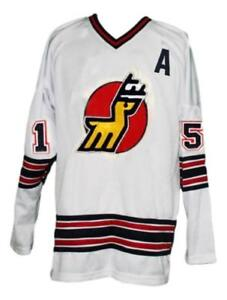 Any Name Number Size Michigan Stags Custom Retro Hockey Jersey White