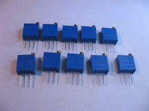 Bochen-50-Ohm-50R-Trimmer-Potentiometer-3296-500W-Multi-Turn-NOS-Qty-10