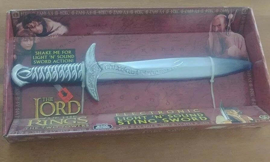 Toy Biz Biz Biz Lord of the Rings The Two Towers Sting Sword Electronic Light N Sound 11cc70