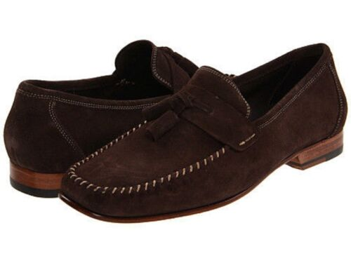 Bruno Magli Mens Emolio Dark Brown Slip-On Business Casual Loafer Dress Shoes