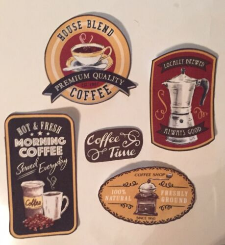 Iron On Fabric Appliques // Coffee Patches