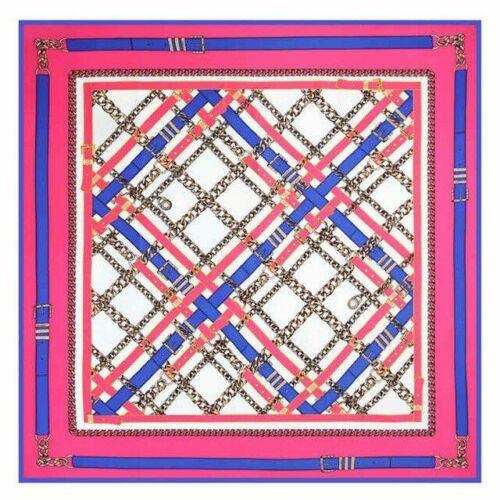 Twill Silk 100/% Scarf Europe Foulard French Horses Print Square Scarves Shawls