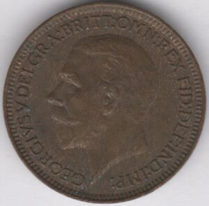 1934 George V Farthing | British Coins | Pennies2Pounds