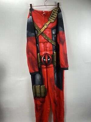 Marvel Men/'s Deadpool Cropped Hooded Union Suit One Piece Pajama