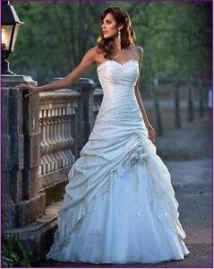 Lager-Weiss-Brautkleid-Abendkleid-Ballkleid-Hochzeitskleid-Gr34-36-38-40-42-44-46