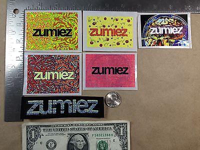 Lot of 6 Zumiez Stickers Free Shipping Set C