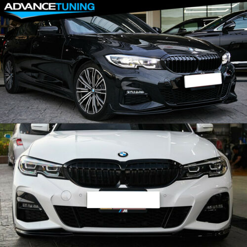Fits 19-20 BMW G20 M-Performance Style Front Bumper Lip Spoiler Unpainted PP