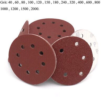 New Hole Pads Discs Sanding 40 60 80 120 Grit Disks Paper Sander 125mm Orbital