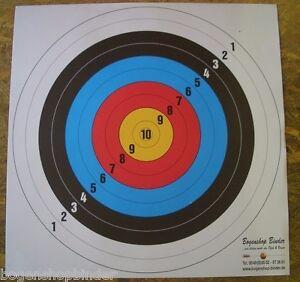 5-Fita-DISCOS-OBJETIVOS-60cm-deporte-de-Arcos-PAPEL-Tiro-al-Target
