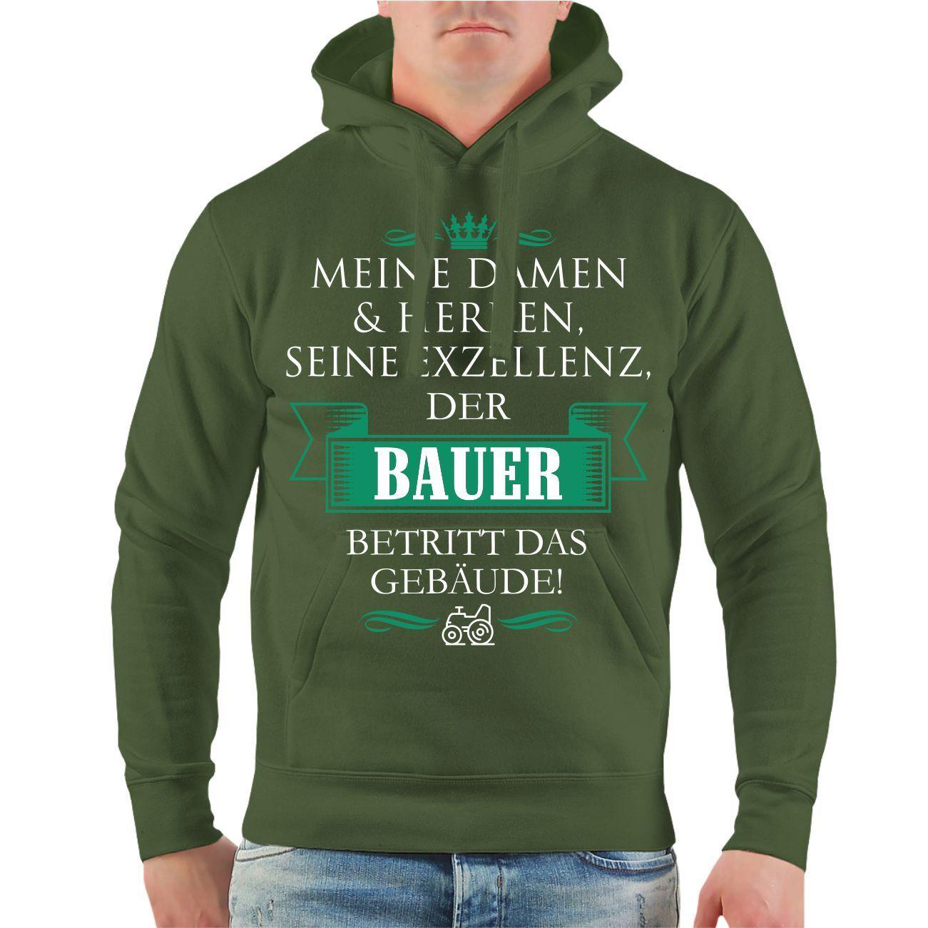 Kapuzenpullover Seine Exzellenz BAUER Landwirt Bauernhof lustiger Spruch Hoodie