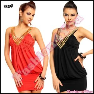 Sexy-Ladies-Mini-Dress-Women-039-s-Summer-Party-Clubwear-Tunic-One-Size-6-8-10-12-UK