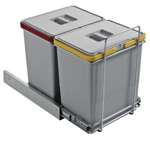Bidone spazzatura sotto lavello cucina estraibile differenziat 2 secchi 36L EC ì