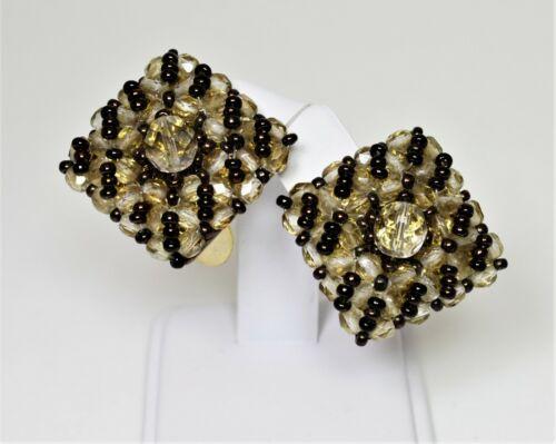 Gorgeous Vintage ELMA Venezia Italy Earrings ~ Squ