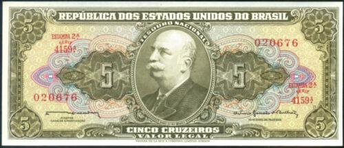 13 Uncirculated Banknotes 5 CRUZEIROS BRAZIL 1962-1964 - P 176c  Sign