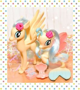 ❤️My Little Pony MLP Brushable G4 Princess Skystar Hippogrif & Seapony Mermaid❤️