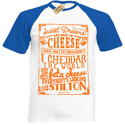 CHEESE T-Shirt Mens baseball Sweet Dreams are made of brie lovers gift
