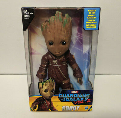"""Marvel Guardians of the Galaxy Vol 2 WALMART EXCLUSIVE 10/"""" RAVAGER OUTFIT GROOT"""
