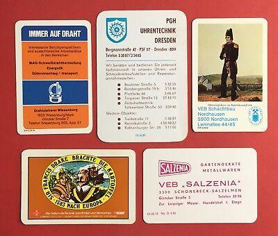 5 X Ddr Taschenkalender 1981/85/87/88 Pgh Uhrentechnik Dresden, Schachtb.( 40931 Elegant Im Geruch